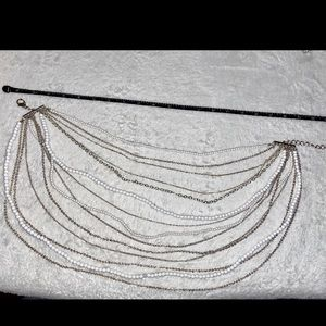 💎BOGO FREE! 14 layered white bead silver necklace
